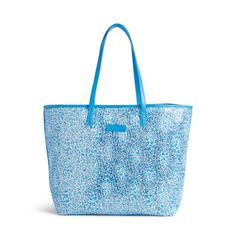 Carry a bit of summer's sunshine everywhere you go with this sparkling tote. Created with printed mesh overlaid on shimmering sequins, it's not only pretty but also lightweight and very packable. An inside hanging pocket for keys and a phone plus our Vera Bradley logo lining are the perfect finishing touches.