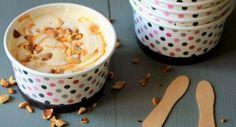 Comment réaliser une glace caramel cacahuètes sans sorbetière