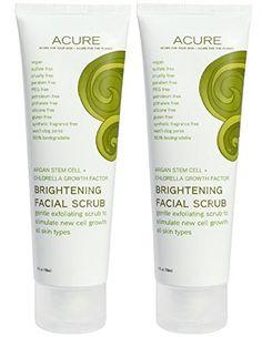 Acure Organics Brightening Facial Scrub Argan Oil Natural Exfoliator 4 oz P ** For more information, visit image link.