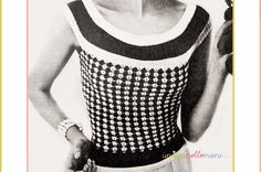modello-a-maglia vintage con spiegazioni