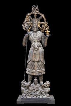 兜跋毘沙門天立像(とばつびしゃもんてんりゅうぞう/国宝)京都 東寺 Japanese Art, Sculpture Art, Buddha, Statue, Cool Stuff, Victoria, Blog, Japan Art, Blogging