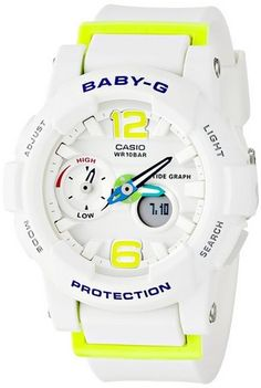 cool G-Shock Womens BGA180 Glide with Tide Graph Baby-G Series Designer Watch - White/Lime Green / One Size - For Sale Check more at http://shipperscentral.com/wp/product/g-shock-womens-bga180-glide-with-tide-graph-baby-g-series-designer-watch-whitelime-green-one-size-for-sale/