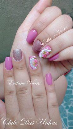 Unhas decoradas com vintage floral48