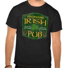 """★★CLICK HERE for more Custom Irish Pub Gifts ★★Add your last name or other custom text to this cool Irish Pub merchandise """"Your Name's Irish Pub"""". Very cool personlized gift for St. Patricks day, Irish heritage or any time of year. Copyright © www.CuteComfy.com #irish #name #beer #drinking #dad #funny #custom #saint #patricks #day #customizable #last #personalized #irish #pub #manly #customized #funny #st #patricks #day #personalized #st #patricks #day #family #celtic #irish #name…"""