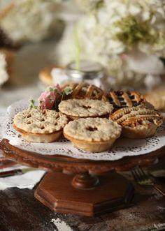 Tea Treats at Sampler Cottage Fresh Farmhouse, Mini Pies, Snack, High Tea, Afternoon Tea, Tea Time, Creme, Sweet Tooth, Food Photography