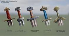 Viking Era Sword Hilts by RobbieMcSweeney on DeviantArt Viking Armor, Viking Dress, Viking Tent, Viking Shield, Swords And Daggers, Knives And Swords, Sword Hilt, Viking Reenactment, Armadura Medieval