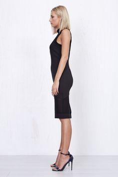 Annabelle Sheer Dress Black   Morrisday   The Label