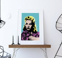 Betty Grable Pop Art print retro Illustration Art Print Giclee on Paper Canvas Poster Wall Decor #bettygrable #bettygrableprint #popart #pinupgirl #print #poster #homedecor #pinup