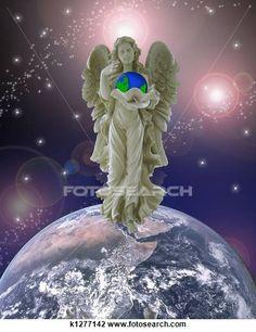 Clipart - anjo guardião, para, terra planeta k1277142 - Busca de Imagens Clip Art, Ilustrações, Desenhos e Vetores Gráficos - k1277142.jpg