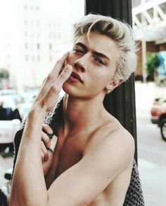rebellious photoshoot - Platinum-haired model Lucky Blue Smith stars in Rollercoaster Magazine's rebellious cover story. The image series is captured by photographer. Beautiful Boys, Pretty Boys, Lucky B Smith, Matthew Clavane, Lucky Blue, Look Man, Raining Men, Male Beauty, Hot Boys