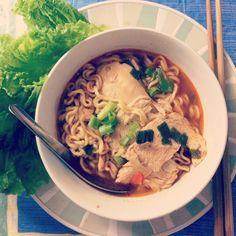 Ramen: 10% noodles, 90% love. Instagram image via @ pslilyboutique