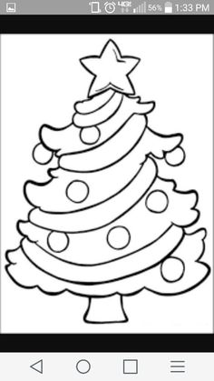 Coloring Pages Of A Christmas Tree