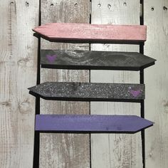Pink purple and grey heart arrows by TheBarnFarmGals on Etsy https://www.etsy.com/listing/273559500/pink-purple-and-grey-heart-arrows