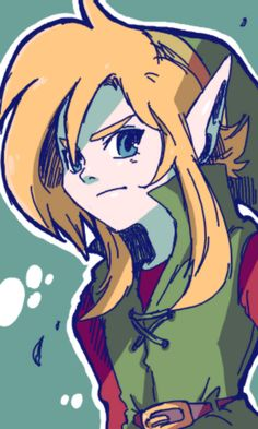 Link. I love his hair in the classic games...so cute.