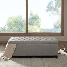 Shop for Madison Park Sasha Grey Tufted Top Storage Bench. Get free shipping at Overstock.com - Your Online Furniture Outlet Store! Get 5% in rewards with Club O! - 18343256