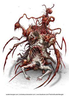 ArtStation - The Conductor, Austen Mengler Monster Concept Art, Monster Art, Creature Concept Art, Creature Design, Fantasy Kunst, Dark Fantasy Art, Arte Horror, Horror Art, Lovecraftian Horror
