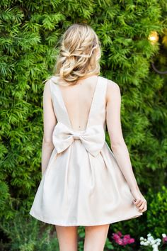 Blaire Light Taupe Bow Back Dress – Morning Lavender