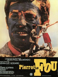 Jean-Paul Belmondo and Anna Karina in Pierrot le Fou Anna Karina, Beau Film, Jacques Demy, Old Hollywood Movies, Old Hollywood Stars, Cult Movies, Movies To Watch, Francois Truffaut, Jean Luc Godard