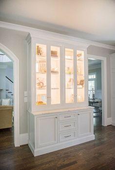 99 Romantic White Kitchen Cabinet Decor Ideas - Page 73 of 99 Kitchen Cabinets Decor, Kitchen Cabinet Design, Kitchen Ideas, Kitchen Pantry, Dining Cabinet, Kitchen Shelves, White Buffet Cabinet, Kitchen Buffet Cabinet, White China Cabinets