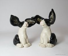Dutch Bunny Rabbit Wedding Cake Toppers  made to by CedarPocket,