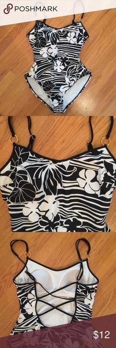 Selling this Sessa One Piece Size 16 Bathing Suit Black/White on Poshmark! My username is: volley4kix. #shopmycloset #poshmark #fashion #shopping #style #forsale #Sessa #Other