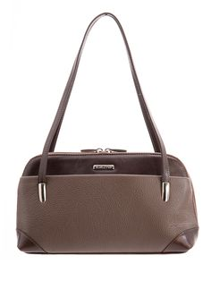 Natalia-Leather Handbag-Chocolate