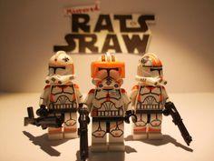 Lego Star Wars minifigures - Clone Custom Comdr Cody, Trprs Waxer & Boil - 212th