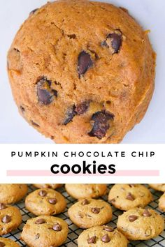 *NEW* pumpkin chocolate chip cookies with butter have a slightly crisp exterior and a soft chewy center to indulge the senses in decadent holiday flavors and aromas. #chocolatechipcookies #pumpkincookies Pumpkin Chocolate Chip Cookies, Delicious Deserts, Cinnamon Cream Cheeses, Pumpkin Puree, Easy Desserts, Cravings, Nom Nom, Crisp, Sweet Tooth