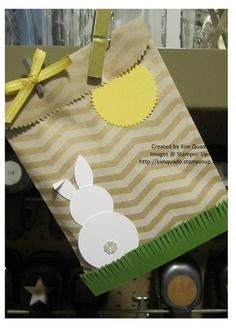 Easter bunny Treat gift bags featuring Stampin Up