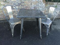 Secondhand Chairs and Tables   Outdoor Furniture   Tolix Style French Bistro Furniture - Hertfordshire