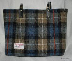Harris Tweed Tote Bag in a MacKenzie check by Ten10Creations