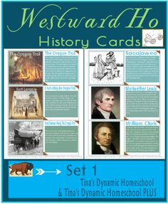 FREE Westward Ho History Cards - so many uses!