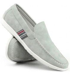 48132e42ac Mocassim Touro Boots Cinza 3000 - Tipo de Solado Borracha Material Externo  Couro Material Interno Couro