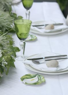 Urban Jungle Bloggers: Planty Table Setting by @Kulissenbummel