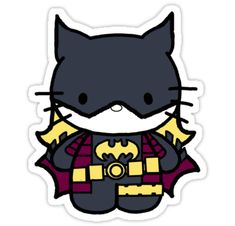 batgirl &&&&& hello kitty??? LOVE. Hello Kitty Art, Hello Kitty Pictures, Hello Kitty Items, Lunchbox Notes For Kids, Batman Party, Hello Kitty Collection, Batman Universe, Nerd Love, Kawaii