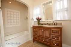 Traditional Bathroom Design - Alcove Shower/Tub Combo