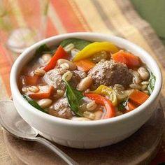 Mediterranean Meatball Soup #myplate