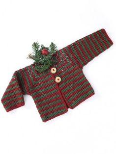Yarnspirations.com - Caron Mitered Striped Baby Sweater - Patterns  | Yarnspirations