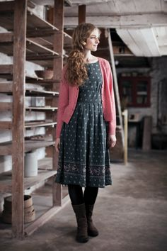 Beautiful & Practical Clothing For Women - Seasalt Cornwall - Thalia Dress Modest Dresses, Modest Outfits, Fall Dresses, Modest Fashion, Cute Dresses, Sweater Dresses, Mode Style, Style Me, Pretty Outfits
