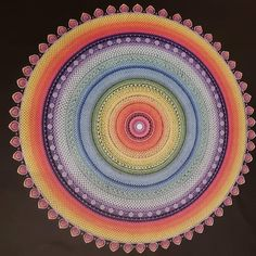 Reproduction // Mandala Abondance Unique 4 pieds (48 pouces). Mandala Meditation, Meditation Stones, Mandala Original, Reproduction, North America, Beach Mat, Outdoor Blanket, Hand Painted, The Originals