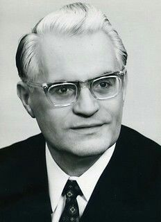 Gerald Gotting, East German Christian democrat politician, president of the East German Volkskammer (people's chamber) from 1969-1976,1923-2015