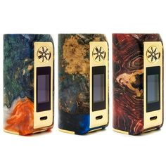 DiscoverMinikin 180w V2, a new box of compact size, powerful and modern!    It works with two 18650 batteries (not included) and includes a full touchscreen and very practical.    Please note each box is unique!    IMPORTANT: Due to the nature of the stabilized wood and the multi-colored resin used in the Asmodus Minikin 2 Kodama the colors and pattern of the item you receive will vary from the photos listed. Photos are just a guide.    Characteristics :      Dimensions: 81 x 42 x 40 mm…