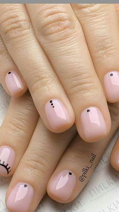 36 Amazing Beautiful Nails Designs - Queen's TOP 2019 Best Nail Designs of 2019 . - Nail Design Ideas, Gallery of Best Nail Designs Cute Nails, Pretty Nails, My Nails, S And S Nails, Fail Nails, Short Gel Nails, Long Nails, Short Nails Art, Short Natural Nails
