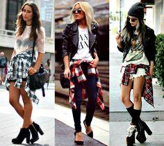 Fashion Friday: camisa xadrez amarrada na cintura | CBBlogers