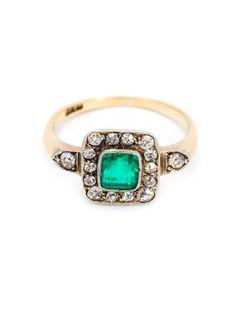 Just One Eye Viktorianischer Diamantring Mit Smaragd - Just One Eye - Farfetch.com