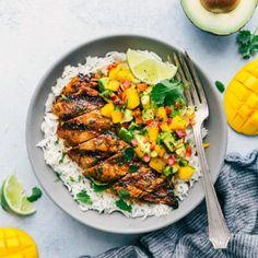 Cilantro-Lime Chicken with a Mango Avocado Salsa | Chelsea's Messy Apron