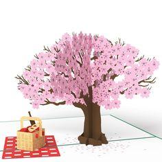 Springtime Picnic pop up card
