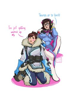 Overwatch Outfit-Swap: D.Va and Mei [Submission by various anons and @brushwolf625 ] I love these two in the same picture. I don't think I've seen much art of them hanging out, and now I realise I want it. D.Va looks good in everything, and Mei is...