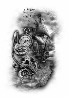 Feather Tattoos for Men – Ideas and Desi… - Tattoo Designs Men Map Tattoos, Best Sleeve Tattoos, Skull Tattoos, Body Art Tattoos, Tattoo Drawings, Cool Tattoos, Feather Tattoo For Men, Feather Tattoos, Karten Tattoos