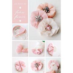 {go make me} bejewelled flower headband diy project Go Make Me found on Polyvore